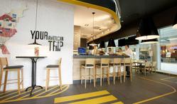 Restauracja Amerykańska w budynku biurowo-handlowo-usługowo-apartamentowym
