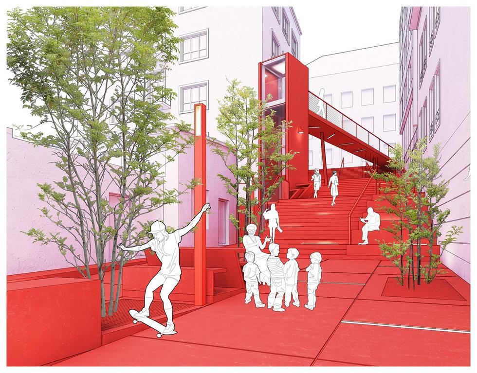 Przebudowa schodów terenowych na ulicy Śliskiej w Krakowie